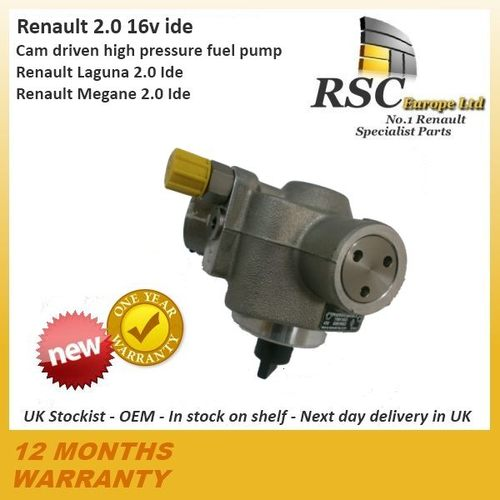RENAULT MEGANE LAGUNA 2.0 16v IDE High Pressure Fuel Pump - Not the Regulator