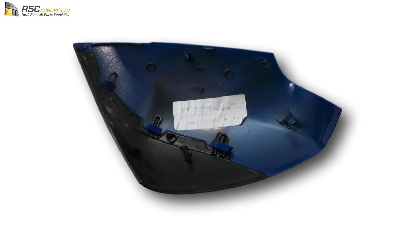 renault scenic 3 iii left mirror cover cap shell in blue. Black Bedroom Furniture Sets. Home Design Ideas