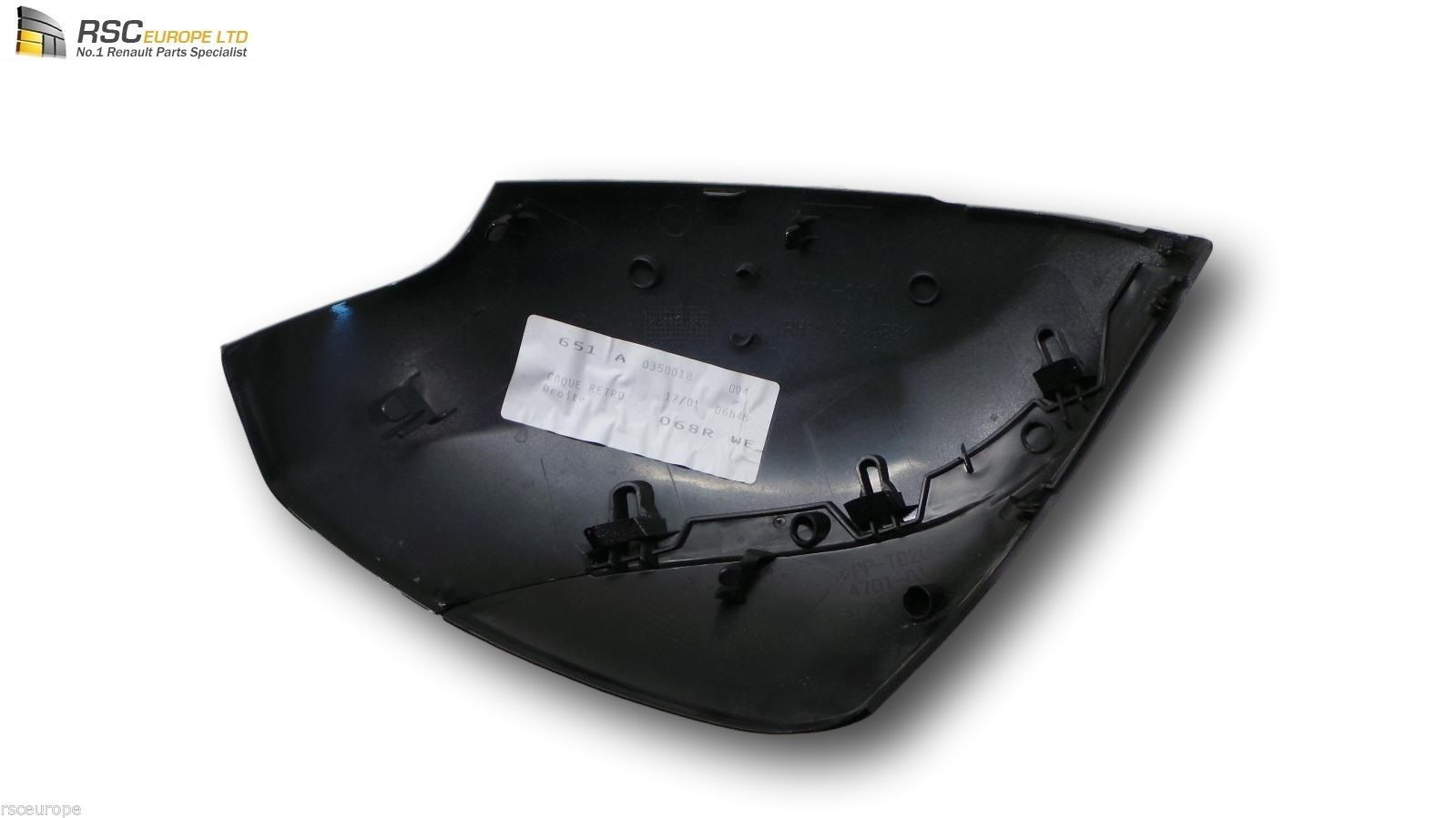 renault scenic 3 iii right mirror cover cap shell in black os 963748223r. Black Bedroom Furniture Sets. Home Design Ideas