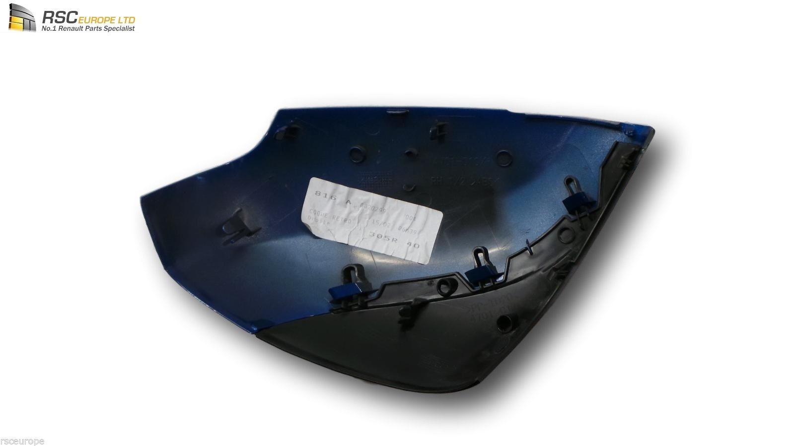 renault scenic 3 iii right mirror cover cap shell in blue os 963748223r. Black Bedroom Furniture Sets. Home Design Ideas