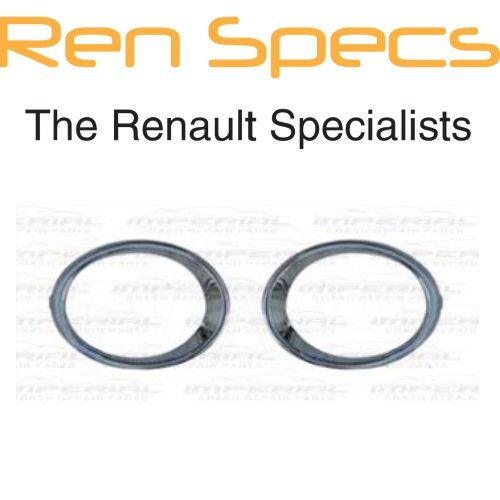 Brand New Renault Kadjar - Front Bumper Fog Lamp Mouldings - Chrome Surround Set