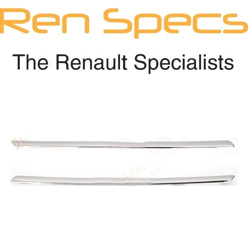 Brand New Renault Kadjar - Front Bumper Upper Radiator Grille Chrome Mouldings