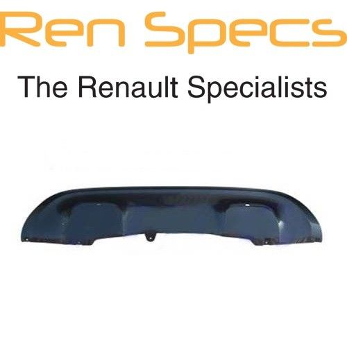 BRAND NEW Renault Kadjar - Rear Bumper Spoiler with Sensor Holes - Gloss Black