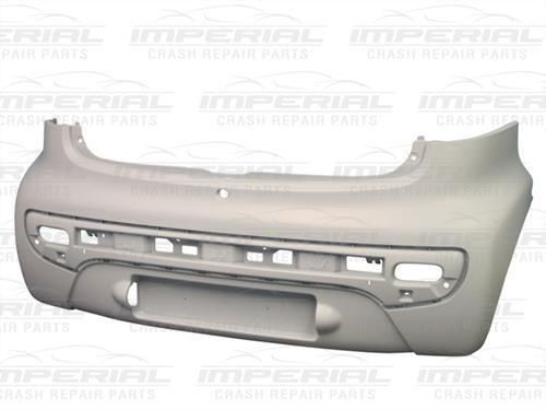 Citroen C1 Rear Bumper In Primer  - 2012 - 2014 Models - New - Bare