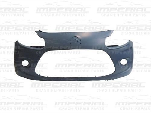 Citroen C3 Front Bumper Primed - With Moulding Holes - 2010 - 2013 Models