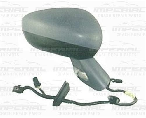 Citroen C3 O/S Electric Door Mirror Manual Fold with Primed Cover Drivers Side