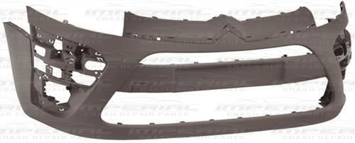 Citroen C4 Picasso 2011 - 2013 Front Bumper No Wash Jet or Sensor Holes - Primed