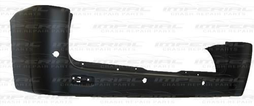 Citroen Dispatch Rear Bumper With Sensor Holes - Black Standard Wheel Base Model