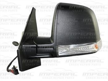 Fiat Doblo 2010-2015 Door Mirror Manual Type With Black Cover (Single Glass) N/S