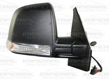 Fiat Doblo 2010-2015 Door Mirror Manual Type With Black Cover (Single Glass) Off Side