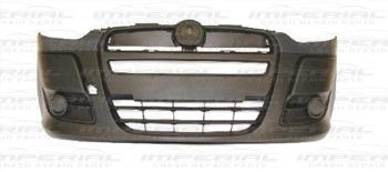 Fiat Doblo 2010-2015 Front Bumper No Lamp Holes - Textured