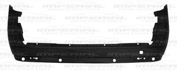 Fiat Doblo 2010-2015 Rear Bumper With Sensor Holes - Black (Twin Door Models)