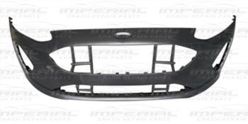 Ford Fiesta 5 Door Hatchback 2017 - Front Bumper No Sensor Holes - Primed (Standard Models)