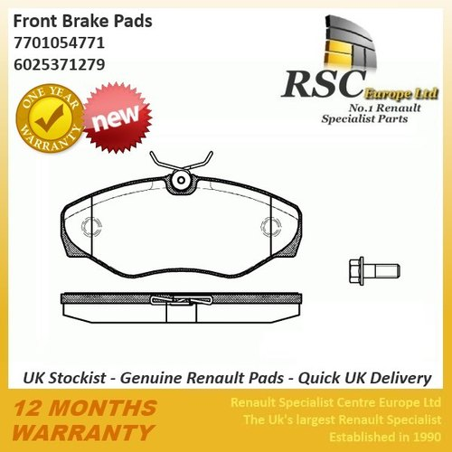 GENUINE RENAULT BRAKE PAD SET - NEW - Trafic Espace - Vivaro - Primastar