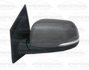 Kia Picanto 5dr hatch 2011-2015 Door Mirror Elec Heat Power Fold Type Primed Cover Near Side