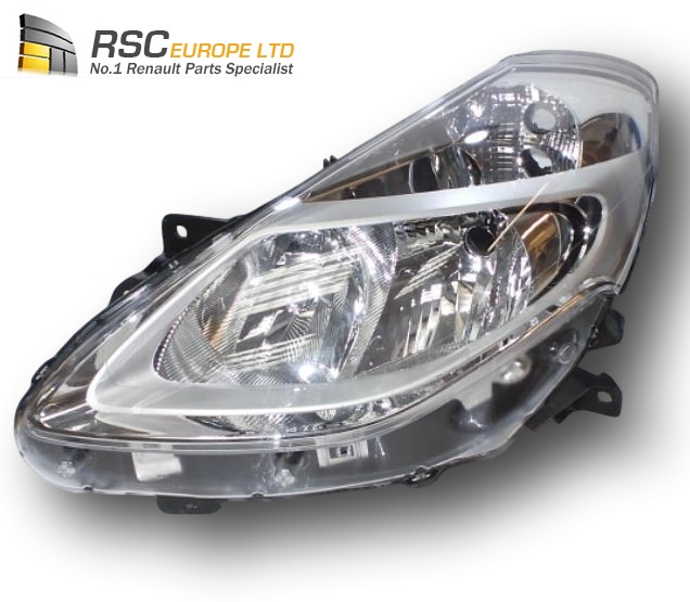 NEW RENAULT CLIO III PHASE 2 LEFT Headlamp Halogen Chrome Type (Not Cornering Type)
