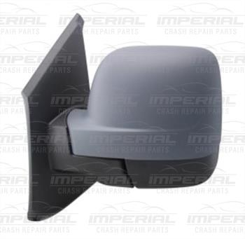 New Renault Trafic III Left Door Mirror Electric Heated Type With Primed Cover