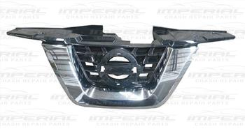 Nissan Juke 2014 - Front Grille Centre Section - With Chrome Trim - No Camera Hole (Standard Models)