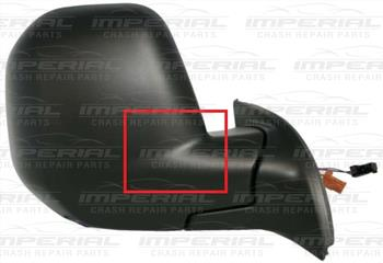 Peugeot Partner 2008 - 2012 Door Mirror Electric Heated Manual Fold Type With Black Cover Off Side