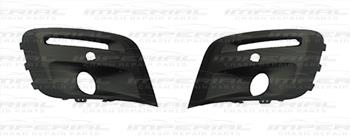 Peugeot Partner 2015 - Front Bumper Grille Outer Section Set - With Lamp Holes - With Sensor Holes