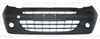Renault Kangoo 2009 - 2013 Front Bumper With Lamp Holes - Black