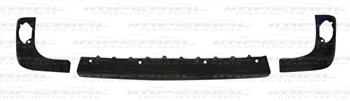 Renault Kangoo 2009 - 2013 Rear Bumper Moulding Set - No Sensor Holes - Textured