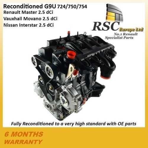 Renault Master Dci G U Reconditioned Engine Movano Interstar P