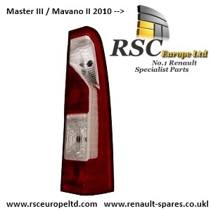 RENAULT MASTER 3 III MOVANO 2 II Right rear light OSR R TAIL LAMP 2010 -->