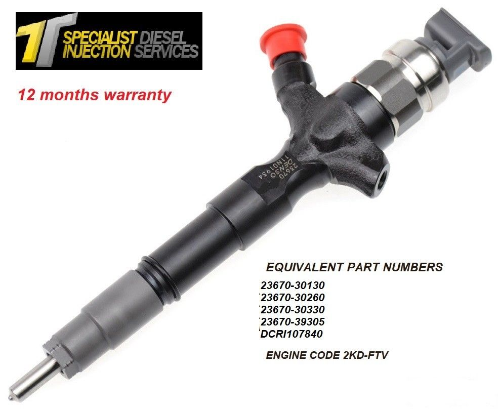 Toyota 4Runner 2.5 D Reconditioned Diesel Injector - 23670-30030 095000-0950
