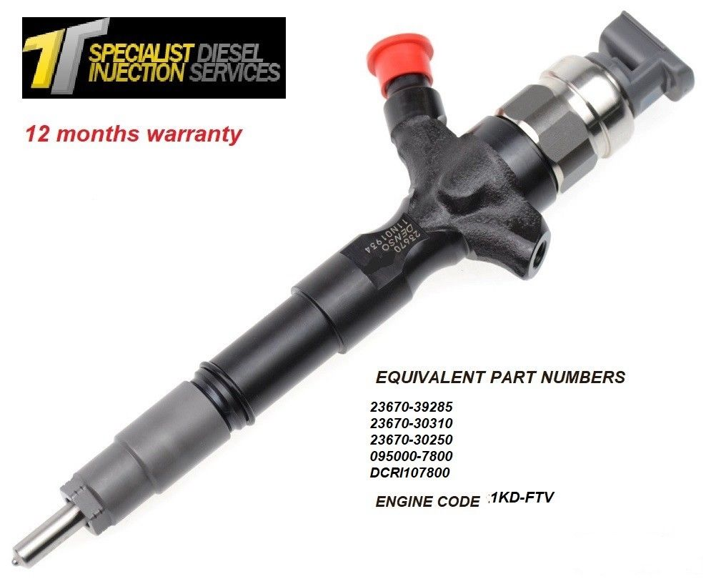 Toyota Hiace 2.5 Reconditioned DENSO Diesel Injector - 23670-39310 23670-30310