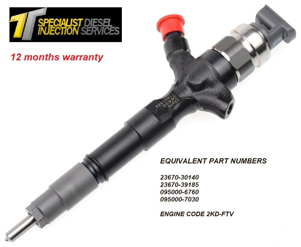 Toyota Hilux 2.5 D Reconditioned DENSO Diesel Injector - 23670-30140 095000-7030