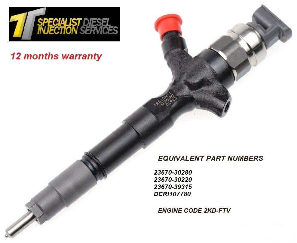 Toyota Hilux 3.0 D Reconditioned DENSO Diesel Injector - 23670-30280