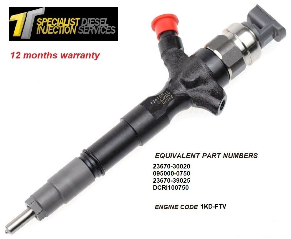 Toyota Land cruiser 3.0 D Reconditioned Diesel Injector - 23670-30020