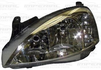 Vauxhall Combo 2002 - 2011 Headlamp Chrome Type With Clear Lens Over Indicator Near Side