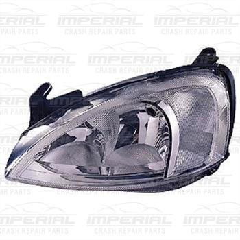 Vauxhall Combo 2002 - 2011 Headlamp Chrome Type With Pattern Lens Over Indicator Near Side