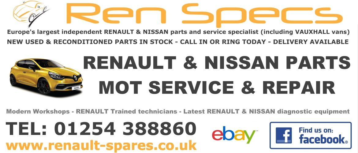Independent Renault Specialists, New, Used and Reconditioned Parts